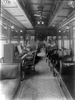 Interior view of AF class lounge car circa 1920