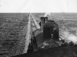 1949, K class view looking froward from cab