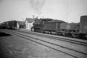 Beltana Station with train an NTSA water wagon behind locomotive