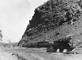 The Ghan in Heavitree Gap, circa 1930