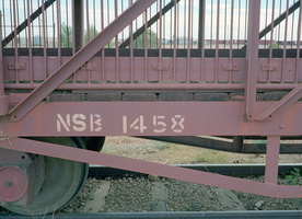 15.5.1981,Marree - NSB1458 sheep wagon - example of wrong number painted on side - probabily NSB1258