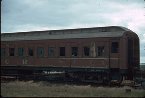 Sitting car ABP 15 in a very poor state of repair at Peterborough on 26.12.1985