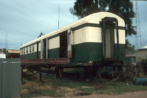 17.12.1997 Port Pirie - AVDP121 at Hackett Haulage painted green and cream