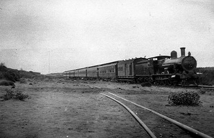 1917 -- The first Trans-Australian Express at 408 miles hauled by a G class engine