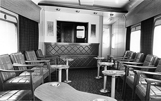 Interior of Club car
