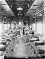 Interior view of AF class lounge car taken in 1917