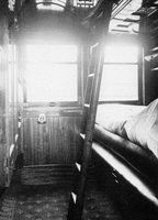 Interior of Joint Stock Sleeping car, circa 1917