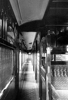 Sleeping Car Onkaparinga from the smoking saloon looking down corridor as built, circa 1911