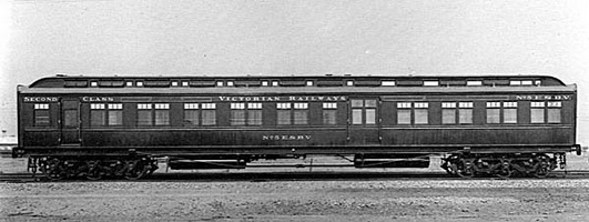 Composite second class/mail sorting van 5 ESBV as built, circa 1909