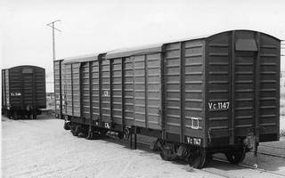 Commonwealth Railways,VC1147 Bogie Covered Goods Wagon Tare:20.5 tons Max load 40 tons standard gauge
