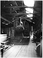 c.1953 Woodcar Paint shop - loco CR NJAB1 Coffee Pot Stored - Quorn -Harry Godson - Murray Billett Collection