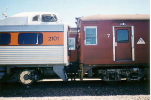 26.4.1997,2101 shunts 367 at Dry Creek