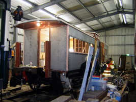 18.6.2005,Brakevan 4420 being rebuilt at Goolwa depot